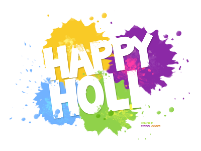 Happy Holi High Quality Text