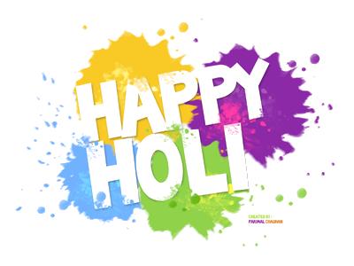 Happy Holi High Quality Text