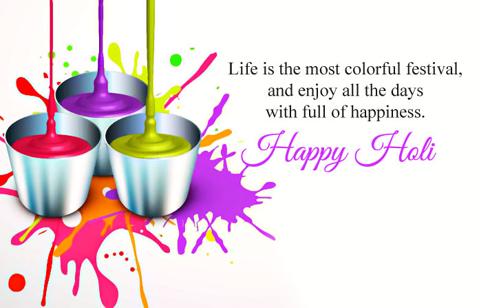 Happy Holi Wishes Images with Quotes