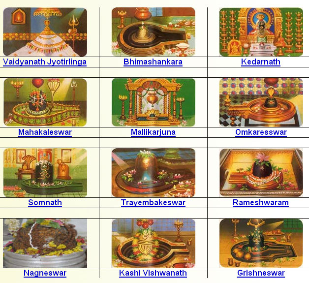 12 Jyotirlinga in India –  12 Shivlings in India