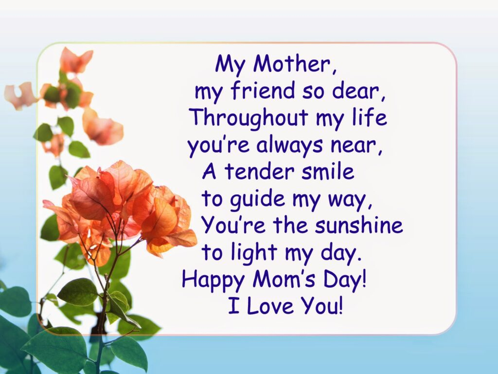 Awesome Mothers Day Poem