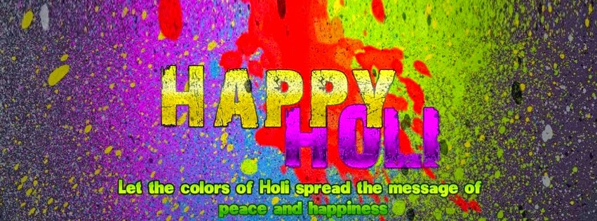 Holi Facebook Cover Images