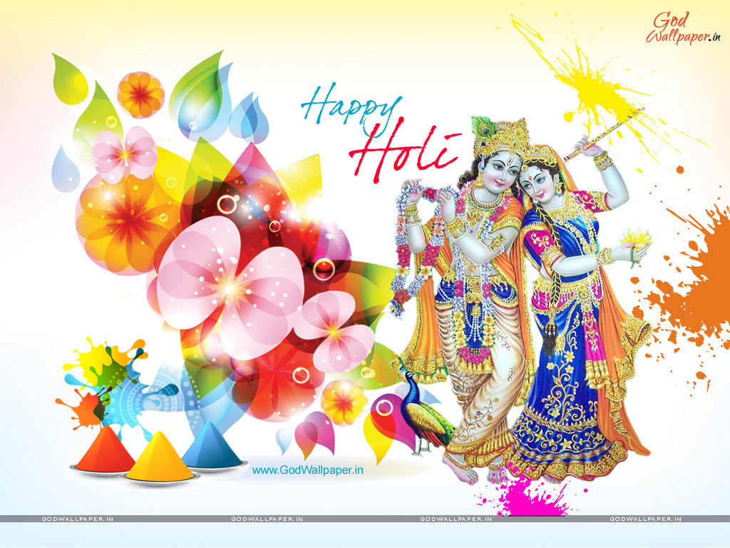 Radha Krishna Holi Wallpapers