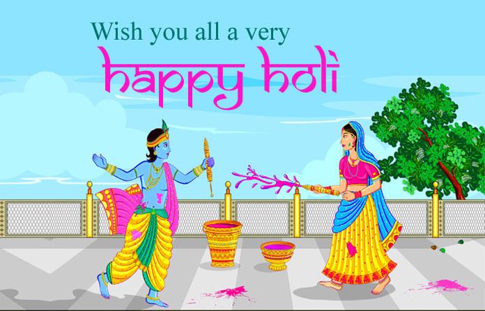 Radhe Krishna God Holi Images