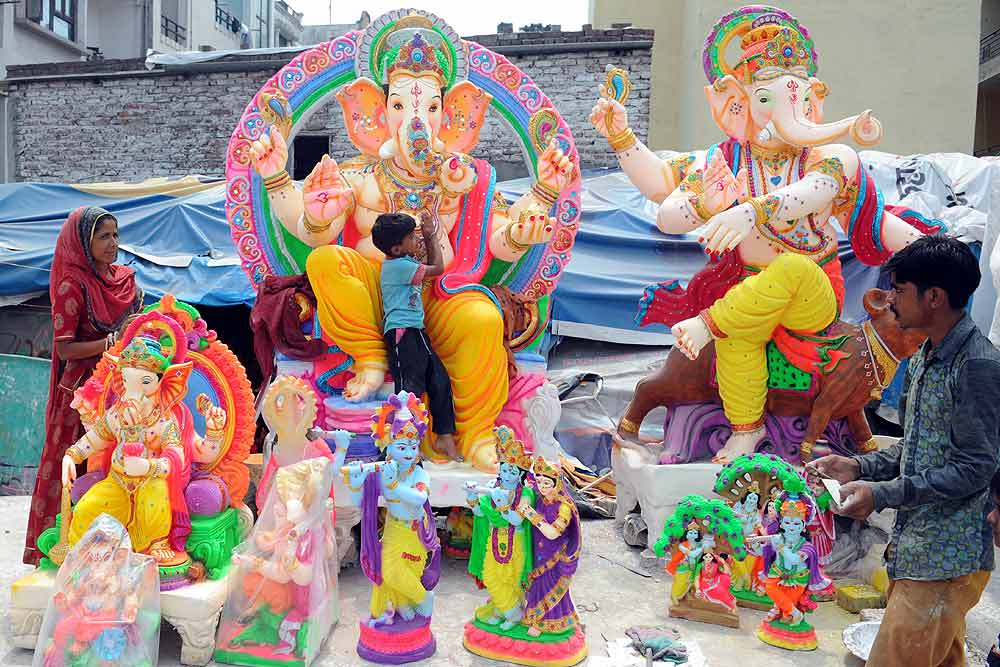 Lord Ganesha Chaturthi Decoration