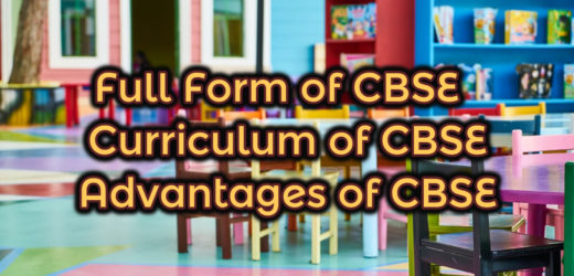 Full Form of CBSE – What is the full form of CBSE?