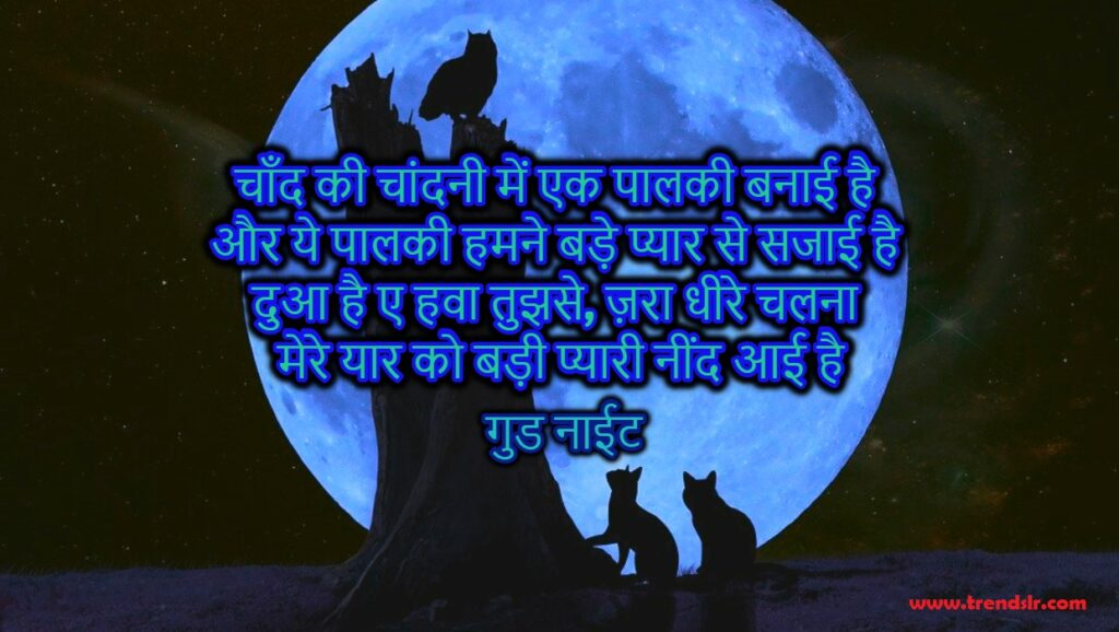 good night shayari for dost