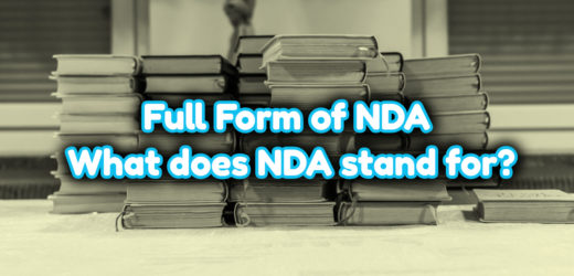 Full Form of NDA – What does NDA stand for?
