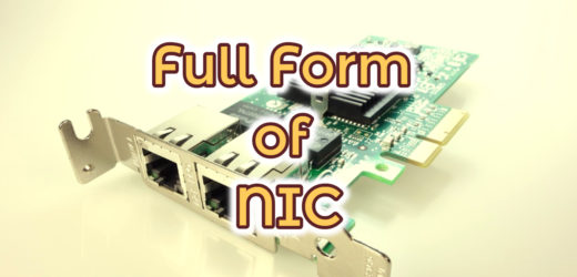 Full Form of NIC in Computer Science