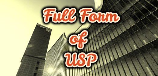 Full Form of USP