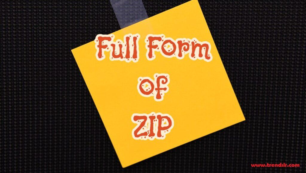 Full Form of ZIP