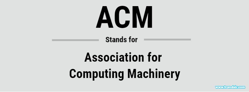Full Form of ACM