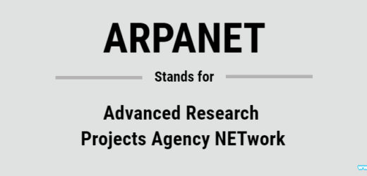 Full Form of ARPANET