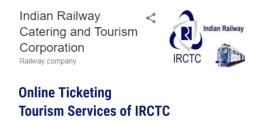 Full Form of IRCTC – Online Ticketing – Tourism services of IRCTC