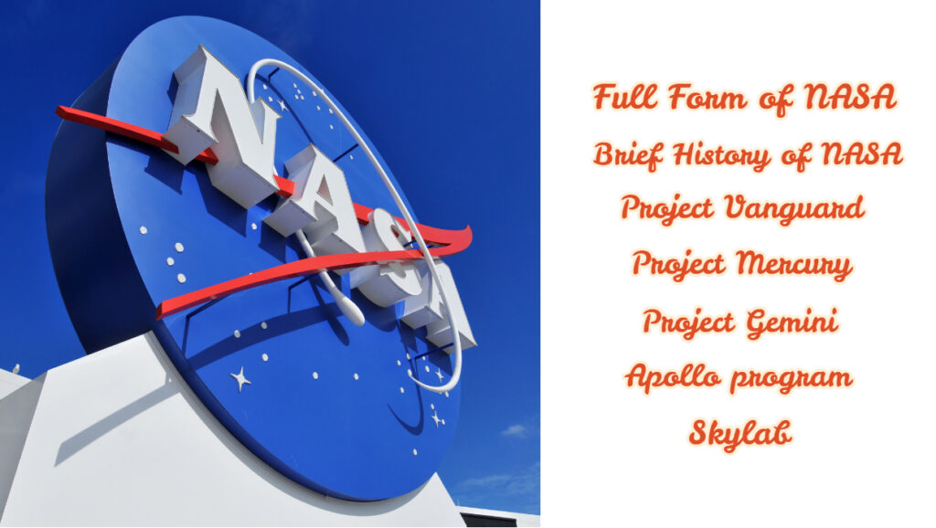 Full Form of NASA - Brief History of NASA