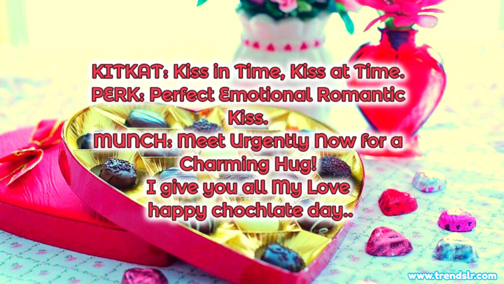 Happy chocolate day text message