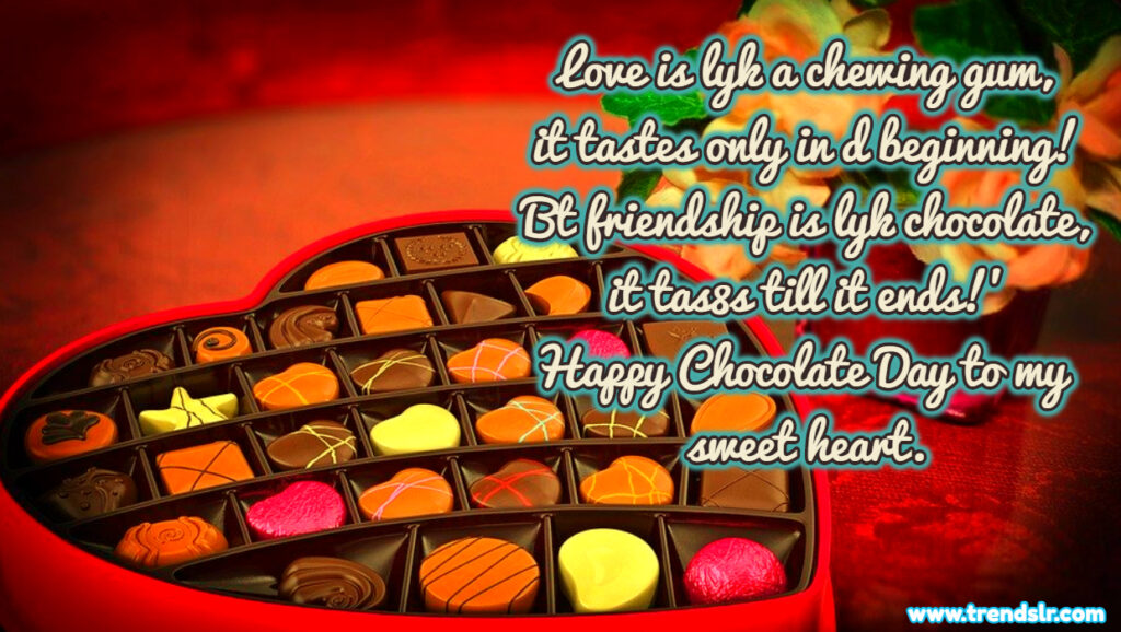 chocolate wallpaper text message