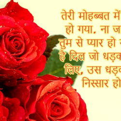 Valentines Day Romantic Pictures with Wishes in Hindi