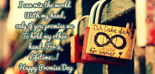 Love Promise Shayari Sms in English – Happy Promise Day