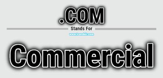 Full Form of .COM