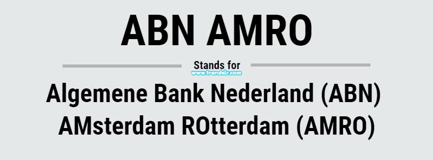 Full Form of ABN AMRO