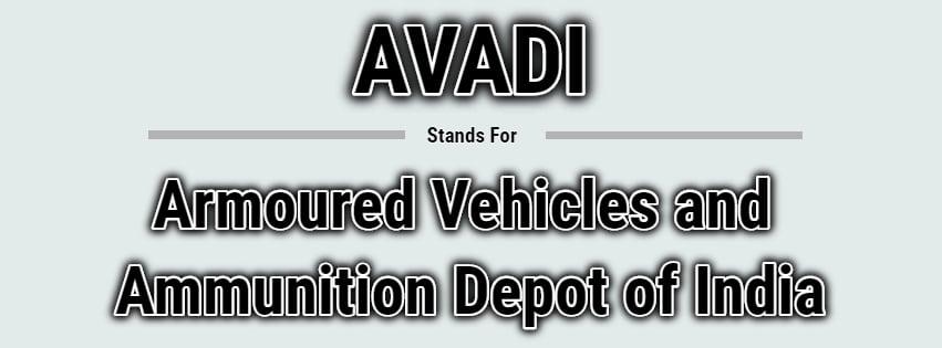 Full Form of AVADI