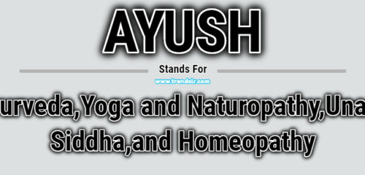 Full Form of AYUSH