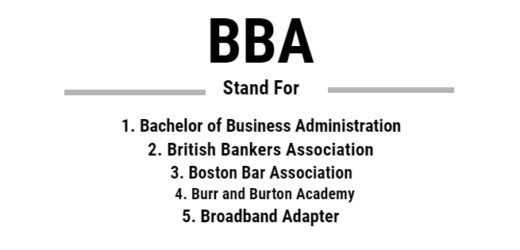 Full Form of BBA