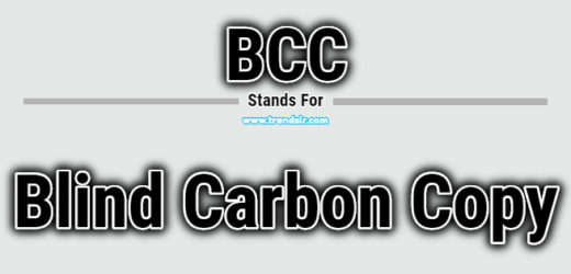 Full Form of BCC