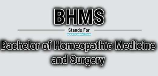 Full Form of BHMS