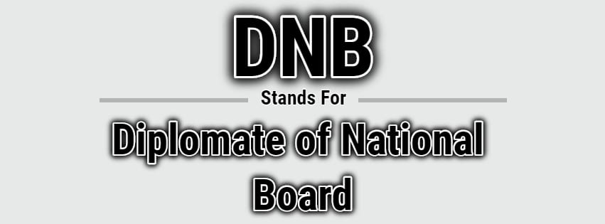 Full Form of DNB