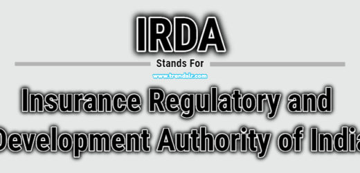 Full Form of IRDA