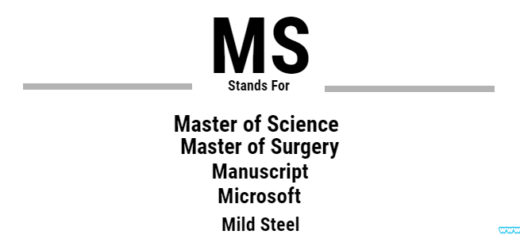 Full Form of MS