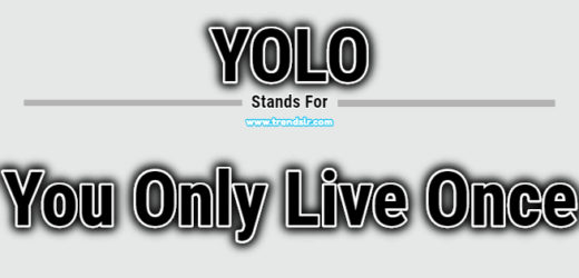 Full Form of YOLO