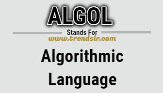 Full Form of ALGOL