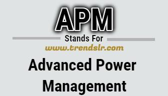 Full Form of APM