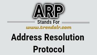 Full Form of ARP