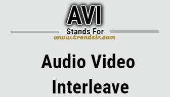 Full Form of AVI