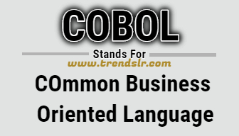 Full Form of COBOL