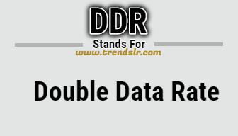 Full Form of DDR