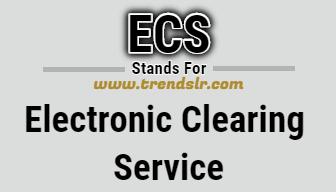 Full Form of ECS