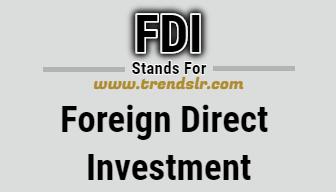 Full Form of FDI