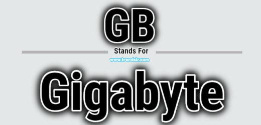 Full Form of GB