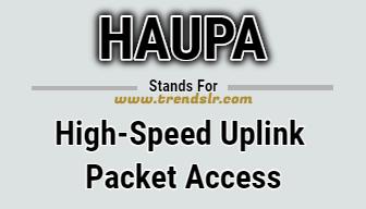 Full Form of HSUPA