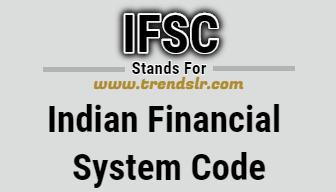 Full Form of IFSC