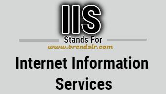Full Form of IIS