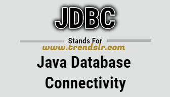 Full Form of JDBC