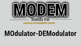 Full Form of MODEM