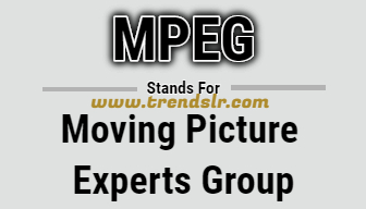 Full Form of MPEG