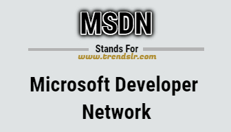 Full Form of MSDN